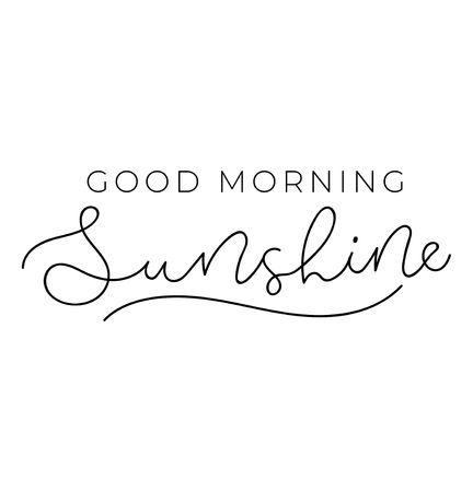 Good morning sunshine poster or print design with lettering. Cute design for inspirational posters or greeting cards. Vector lettering card. Reklamní fotografie - 124119087