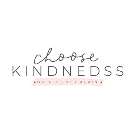 Choose kindness typography lettering card vector illustration. Over again flat style. Modern calligraphy. Minimalism and simplicity concept. Isolated on white background Ilustrace