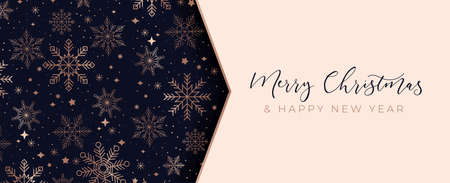 Luxury Christmas background with linear snowflake icons background. Merry Christmas card. Elegant concept for social networks, banner, invitation, mobile, greeting cards etc. Vector illustration