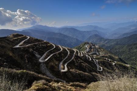 silk: Curvy Roads on Old Silk Route, Dzuluk, Sikkim