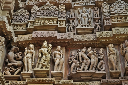 Stone Sculptor of Hindu deities at Vishvanatha Temple photo