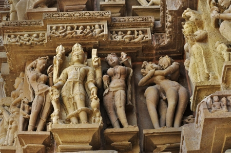 Lord Vishnu Sculptor made of stone at Vishvanatha Temple photo