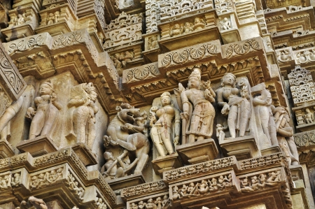 Sculptor of Hindu deities made of stone at Vishvanatha Temple photo
