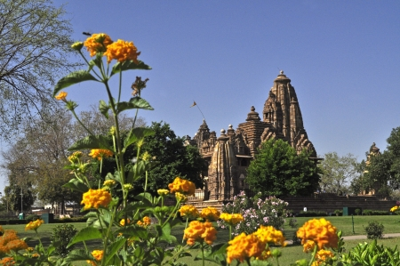 nagara: Lakshmana Temple, dedicated to Vishnu, from back side, Western Temples of Khajuraho, Madhya Pradesh, India