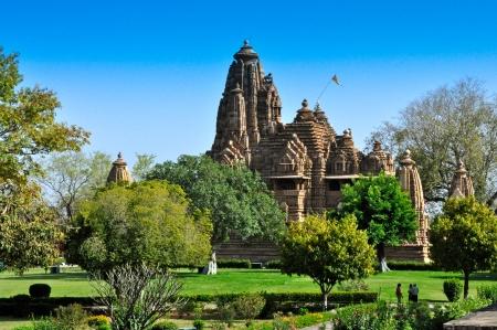 Lakshmana Temple under blue sky, Khajuraho, Madhya Pradeh, India photo