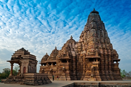 Kandariya Mahadeva Temple, dedicated to Lord Shiva, Western Temples of Khajuraho, Madya Pradesh, India  photo