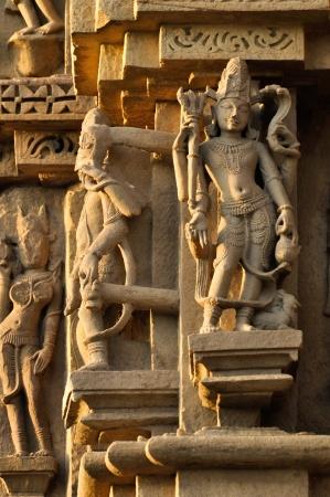 Human sculptures of Eastern Temple, dedicated to Lord Shiva, Eastern Temples of Khajuraho, Madya Pradesh, India  photo