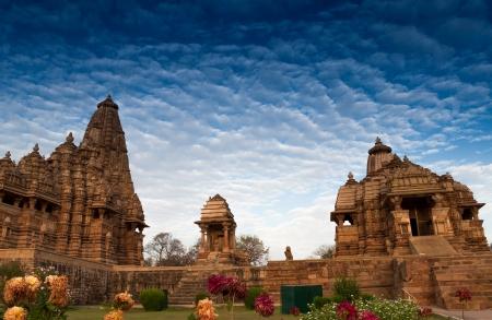 khajuraho: Templos occidentales de Khajuraho, Madhya Pradesh, India.