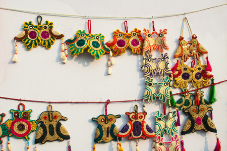 KOLKATA, WEST BENGAL , INDIA - DECEMBER 14TH 2013   Artworks of handicraft, on display during the Handicraft Fair in Kolkata - the biggest handicrafts fair in Asia