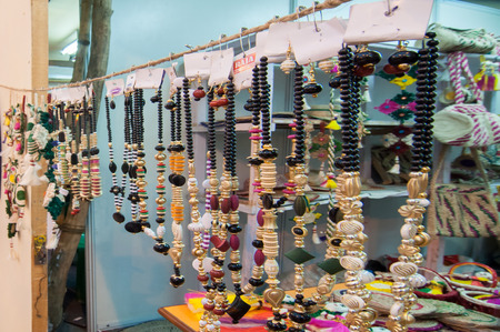 KOLKATA, WEST BENGAL , INDIA - JANUARY 12TH 2014   Artworks of handicraft, on display during the Handicraft Fair in Kolkata - the biggest handicrafts fair in Asia