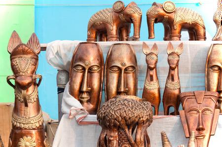 KOLKATA, WEST BENGAL , INDIA - DECEMBER 14TH 2013   Artworks of handicraft, on display during the Handicraft Fair in Kolkata - the biggest handicrafts fair in Asia  photo