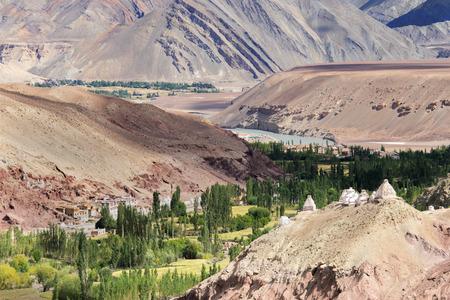 kashmir: Landscape of Ladakh, Jammu and Kashmir, India Stock Photo