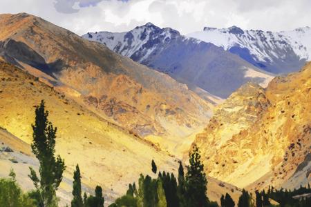 Rocky landscape of Ladakh, Jammu and Kashmir, India