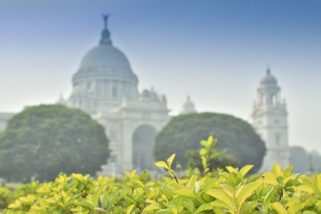 Victoria Memorial, Kolkata , India . A Historical Monument of Indian Architecture. It was built between 1906 and 1921 to commemorate Queen Victoria's 25 years reign in India.