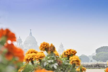 kolkata: Flowers and Victoria Memorial, Kolkata , India .