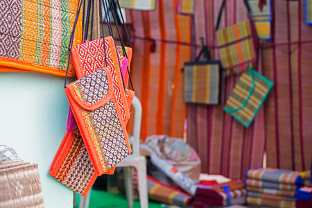 Mats, handicrafts made out of dried grass , on display during the Handicraft Fair in Kolkata , earlier Calcutta, West Bengal, India. It is the biggest handicrafts fair in Asia.