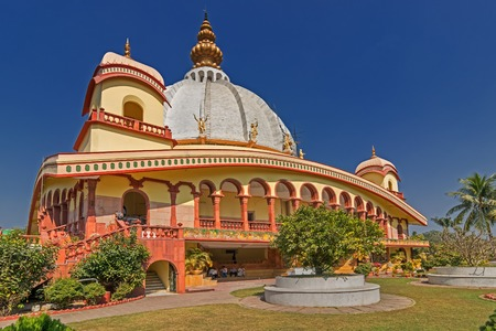 Temple of International Society for Krishna Consciousness (ISKON)- Gaudiya Vaishnava Hindu religious organisation,at Mayapur near Nabadwip, West Bengal,India. It is birthplace of Chaitanya Mahaprabhu.