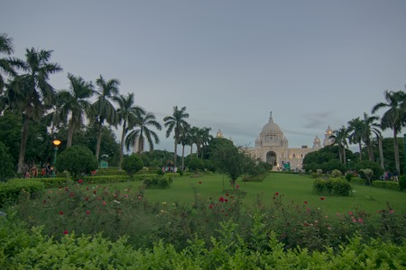 Victoria Memorial, Kolkata , Calcutta, West Bengal, India . A Historical Monument of Indian Architecture. Built to commemorate Queen Victorias 25 years reign in India. Editorial