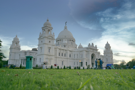 Victoria Memorial, Kolkata , Calcutta, West Bengal, India . A Historical Monument of Indian Architecture. Built to commemorate Queen Victoria's 25 years reign in India.