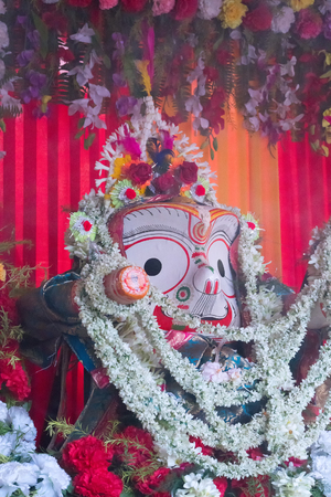 God Balaram. Lord Blalaram is being worshipped for Rath jatra festival - at Howrah, West Bengal, India.