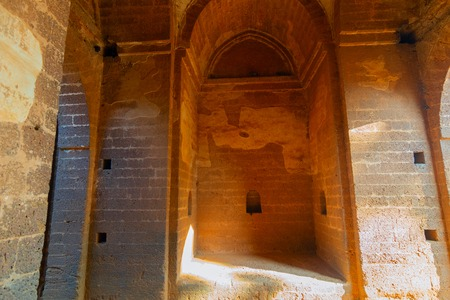 Arches of large gateway - a fine arched gateway , popularly known as Pathar darwaja, is made with dressed laterite blocks. It is a famous tourist spot in Bishnupur, West Bengal - India.