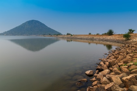 Baranti is a small tribal village in Purulia district , with a water reservoir under Ramchandrapur Medium Irrigation Project, popularly known as Baranti dam. West Bengal, India 스톡 콘텐츠