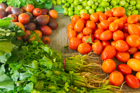 Fresh green vegetables , agricultural products of Sikkim , India