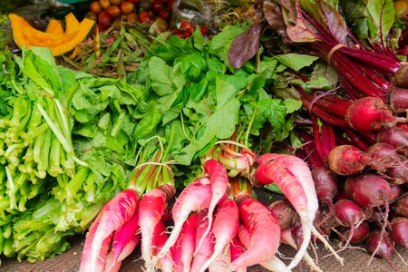 Fresh green vegetables , radish green , agricultural products of Sikkim , India