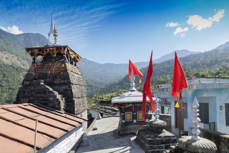 Markandey temple at Mukhumath , Uttarakhand, Garhwal , India. In winter, deity of the temple of Tunganath, Lord Shiva, is shifted to here, worshipped for 6 months till deity returns Tunganath.