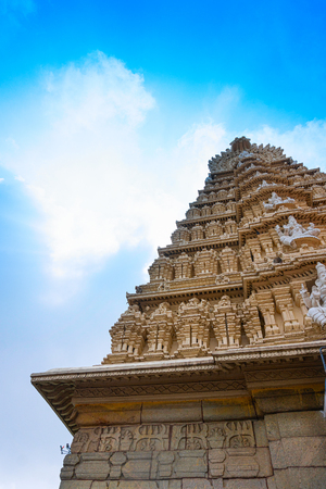 Mysore, Karnataka, India - November 25th 2018 : Shri Chamundeswari Temple, Hindu temple located on the top of Chamundi Hills. The temple was named after Chamundeshwari or Goddess Durga, fierce power. 写真素材 - 130699875