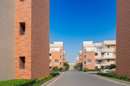 New residential buildings are being built at Rajarhat New Town area of Kolkata, West Bengal, India.Kolkata is one of the fastest growing city in eastern region of India. Real estates are growing fast.