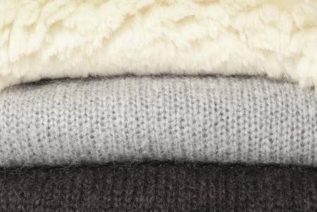 Sheep fur and mohair pullovers