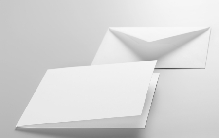 Blank stationery  envelope, postcard