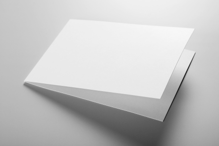 Blank stationery: postcard Stock Photo