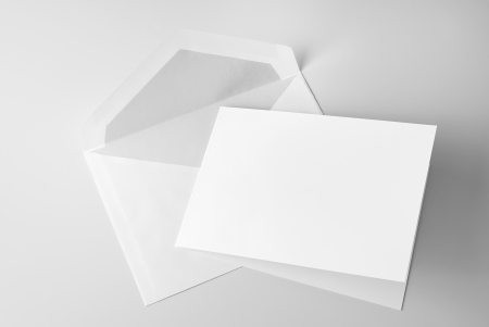 Blank stationery  card and envelope photo