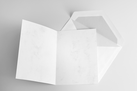 Blank open card and envelope photo