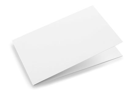 Blank folded card isolated