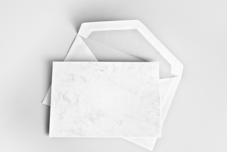 Blank card and envelope