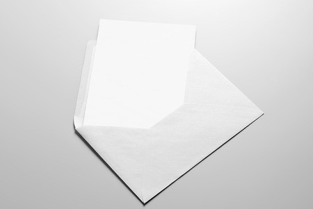 Blank stationery  card and envelope
