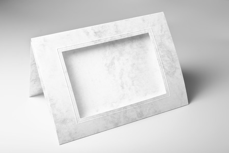 Blank Frame Card Or Photo Mount Stock Photo, Picture And Royalty ...