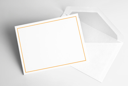 Blank invitation card and envelope Stok Fotoğraf