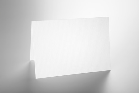 Blank folded card standing