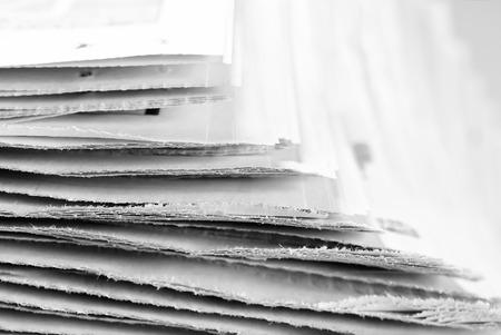 broadsheet: Old newspapers, selective focus