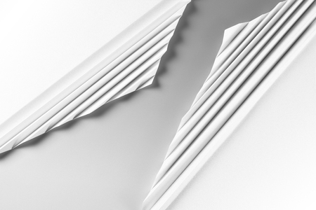 Abstract paper origami background in gray and white