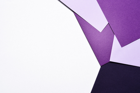 Abstract geometric background paper in colors Stock Photo