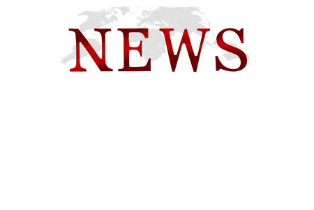 Word News written with red letters overworld map Stock Photo