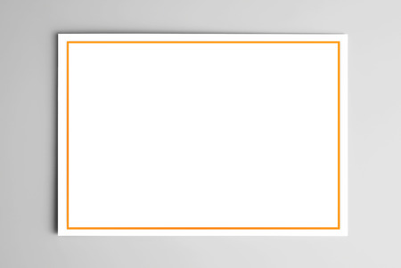 Blank card with yellow frame