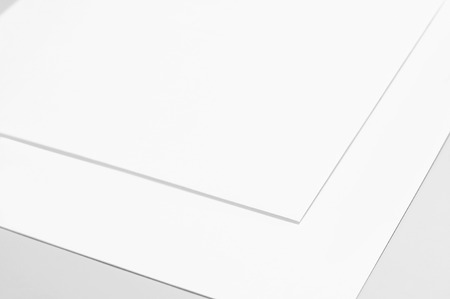 Blank sheets of paper Stock Photo