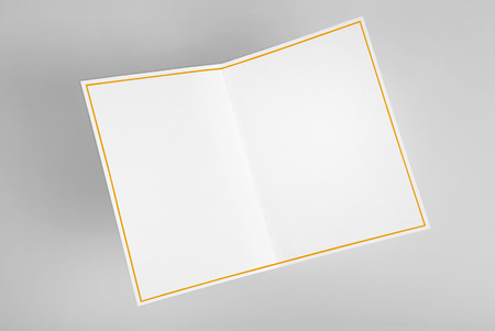 Blank greeting card decorated with gold frame