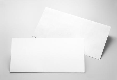 Blank stationery: folded letterhead and envelope Stock Photo